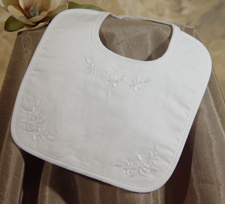 Little Things Mean a Lot Hand Embroidered Girls Cotton Bib at Sears.com