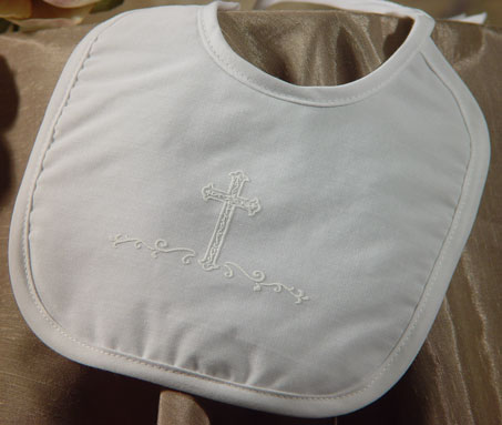 Little Things Mean a Lot Boys Large Polycotton Bib with Screened Cross at Sears.com